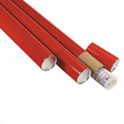 """Office Depot® Brand 3-Piece Telescopic Mailing Tubes, 3"""" x 36"""", 80% Recycled, Red, Pack Of 24"""