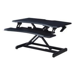 "Lorell® X-Type Slim Desk Riser, 16-1/2""H x 31-1/2""W x 20""D, Black"
