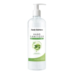 Handy Solutions Antibacterial Gel Hand Sanitizer With Aloe, Scented, 16 Oz Pump Bottle, FDA Registered And Listed