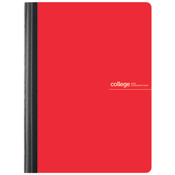 "Office Depot® Brand Poly Composition Book, 7 1/2"" x 9 3/4"", College Ruled, 160 Pages (80 Sheets), Red"