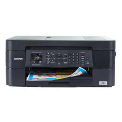 Brother® International Compact MFC-J497DW Wireless InkJet All-In-One Color Printer