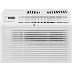 "LG Window Air Conditioner With Remote Control, 11 1/8""H x 17 3/8""W x 14 3/8""D, White"