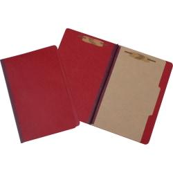 Pressboard Classification Folder, 4-Part, Legal Size, Red (AbilityOne), Pack Of 10