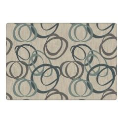 "Flagship Carpets Duo Rectangular Rug, 100"" x 144"", Blue"