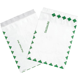 """Tyvek® Envelopes, 9"""" x 12"""", End Opening, First-Class White, Pack Of 100"""