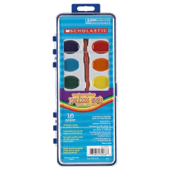 Scholastic® 16-Color Watercolor Paint Set With Brush