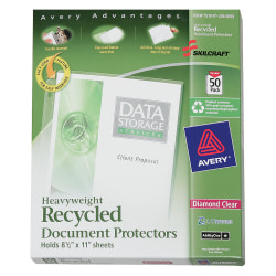 SKILCRAFT® Document Protectors, Box of 50