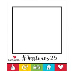 """Amscan Social Media Giant Selfie Frame, 35"""" x 30"""", White"""