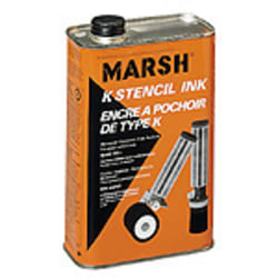 Marsh Black Stencil Ink, Quart