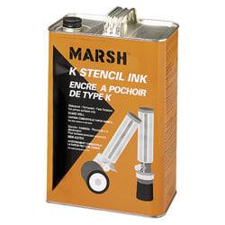 Marsh Black Stencil Ink, Gallon