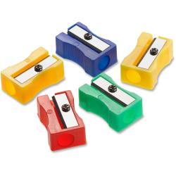 Acme United Plastic Manual Pencil Sharpener - 1 Hole(s) - Plastic - Assorted