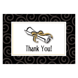 """Amscan Graduation Day Thank You Cards With Envelopes, 4-3/4"""" x 3-1/4"""", Pack Of 50 Cards And Envelopes"""