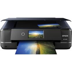 Epson Expression Photo XP-970 Inkjet Multifunction Printer - Color - Copier/Printer/Scanner - 5760 x 1440 dpi Print - Automatic Duplex Print - 4800 dpi Optical Scan - 100 sheets Input - Fast Ethernet - Wireless LAN