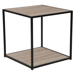 "Flash Furniture Midtown End Table, 20""H x 19-1/2""W x 19-1/2""D, Black/Sonoma Oak"