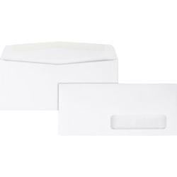 "Quality Park® Right Window Envelopes, #10, 4 1/5"" x 9 1/2"", White, Box Of 500"