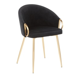 LumiSource Claire Accent/Dining Chair, Black/Gold