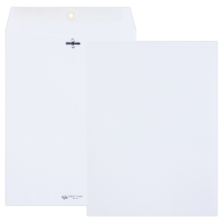 "Quality Park® Clasp Envelopes, #90, 9"" x 12"", White, Box Of 100"