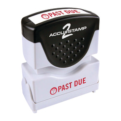 "ACCU-STAMP2® Past Due Stamp ,Shutter Pre-Inked One-Color PAST DUE Stamp,  1/2"" x 1 5/8"" Impression, Red Ink"