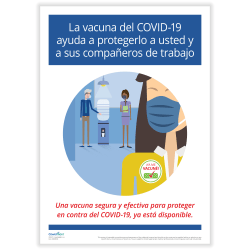 """ComplyRight™ COVID-19 Vaccine Poster, Vaccination, Spanish, 10"""" x 14"""""""