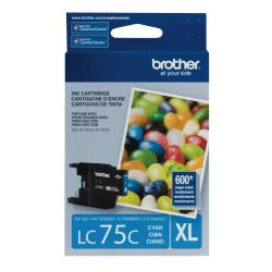 Brother® LC75C High-Yield Cyan Ink Cartridge