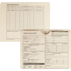 """Quality Park Top-tab Employee Record Folder - Letter - 8 1/2"""" x 11"""" Sheet Size - Top Tab Location - Manila - Cameo - 20 / Pack"""