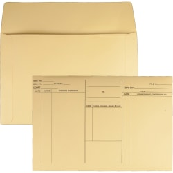 "Quality Park Attorney's File Style Fold Flap Envelope - Document - 14 3/4"" Width x 10"" Length - 100 / Box - Buff"