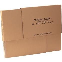 "Office Depot® Brand 4-Piece Mirror Deluxe Moving Boxes, 40"" x 60"" x 3 1/2"""