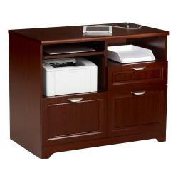 "Realspace® Magellan 36""W Tech Station Printer Stand 2.0, Classic Cherry"