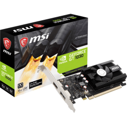 MSI GT 1030 2GD4 LP OC GeForce GT 1030 Graphic Card - 2 GB DDR4 SDRAM - Low-profile - 1.19 GHz Core - 64 bit Bus Width - DisplayPort - HDMI