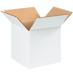 "Office Depot® Brand White Corrugated Cartons, 6"" x 6"" x 6"", Pack Of 25"