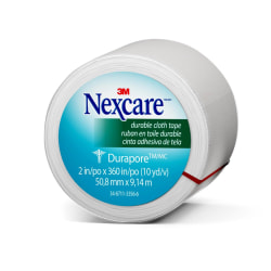 "3M™ Nexcare™ Durapore™ Cloth Tape, 2"" x 10 Yd."