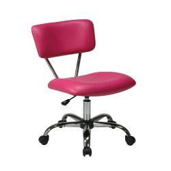 Office Star™ Avenue Six Vista Task Chair, Vinyl, Pink/Silver