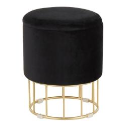 LumiSource Canary Storage Ottoman, Gold/Black