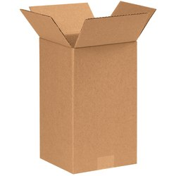 """Office Depot® Brand Tall Boxes, 7"""" x 7"""" x 12"""", Kraft, Pack Of 25"""