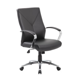 Boss Office Products High-Back Chair, Black