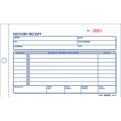 Rediform® Delivery Receipt Book, 2-Part
