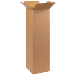 "Office Depot® Brand Tall Boxes, 10"" x 10"" x 36"", Kraft, Pack Of 25"