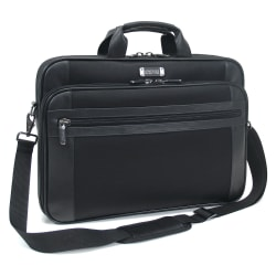 "Kenneth Cole Reaction 18.4"" Portfolio/Computer Case, 13 1/2""H x 19""W x 3 1/2""D, Black"