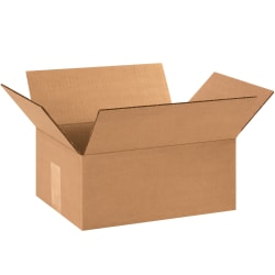 """Office Depot® Brand Corrugated Boxes, 12""""L x 9""""W x 5""""H, Kraft, Pack Of 25"""