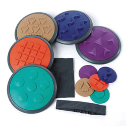 GONGE 12-Piece Tactile Disc Set, Assorted Colors