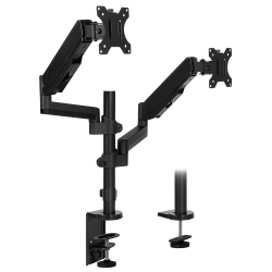 "Mount-It! MI-4762 Dual-Monitor Arm Desk Mount, 17""H x 10""W x 4.3""D, Black"