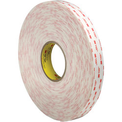 """3M™ VHB™ 4945 Tape, 1.5"""" Core, 1"""" x 5 Yd., White"""