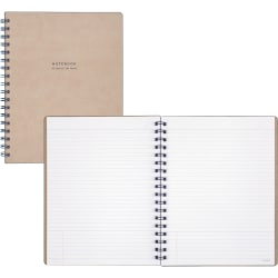 """At-A-Glance Signature Collection Medium Meeting Book - 80 Sheets - Twin Wirebound - Ruled - 7 7/8"""" x 9 5/8"""" - Perforated, Durable, Flexible Cover - 1Each"""