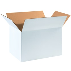 """Office Depot® Brand White Corrugated Cartons, 18"""" x 12"""" x 12"""", Pack Of 25"""
