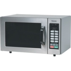 Panasonic 1000 Watt Commercial Microwave Oven with 10 Programmable Memory NE-1054F - Single - Medium Size - 5.98 gal Capacity - Microwave - 6 Power Levels - 1000 W Microwave Power - 120 V AC13.40 A Fuse - Countertop - Stainless Steel, Silver