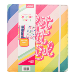 "American Crafts Damask Love Colorfun Planner, 9-1/2"" x 8-1/2"", Get It Girl Stripes, 356268"