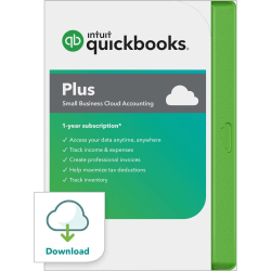 Intuit® QuickBooks® Online Plus 2020, 1-User, 1-Year Subscription, Windows®, Download