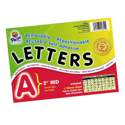 """Pacon® Self-Adhesive Letters, 2"""", Red, Pack Of 159"""