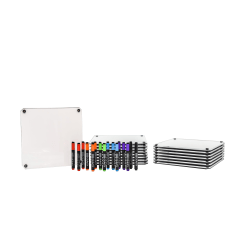 McSquares With Dry-Erase Rolling Easel And Markers, White/Black, Pack Of 16 McSquares