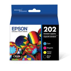 Epson® T202120-BCS Multicolor Ink Cartridges, Pack Of 4 Cartridges